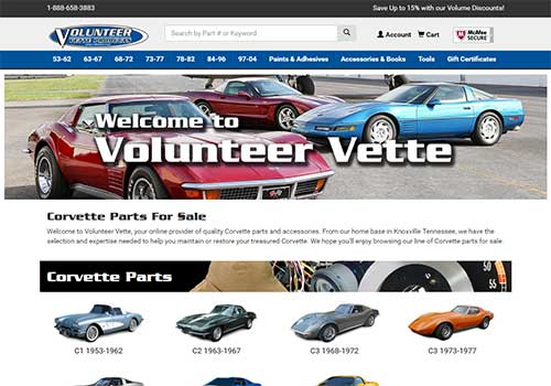 Volunteer Vette Homepage Redesign