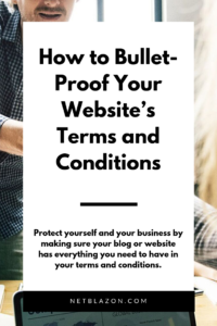website terms conditions