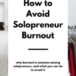 avoid solopreneur burnout